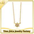 Cristal d'or pendentif étoile de david colliers