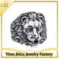 la moda antigua de león de plata anillos de la cabeza