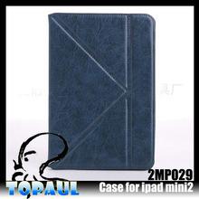 unique fashion hot sale leather cover for ipad mini handle case