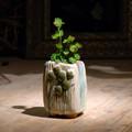 estilo vintage pote de flor de estilo romano pote de flor olla de diente de león para sala de estar