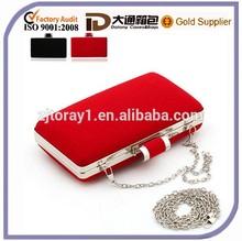 Velvet Long Chain Strap Handbag With Chain Handles Breifcase Bag