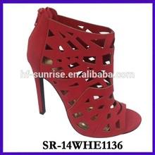 SR-14WHE1136 red wedding girls high heel sandals