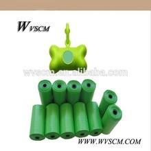 Biodegradable Friendly Dog Waste Poop Scoop Bag with Green Bone Shaped Pet Waste Bags Dispenser - 9 x 13''