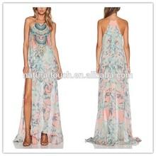 alto de la moda las mujeresimpreso estilo largo vestido de hawaiano para las mujeres ws00465