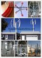 Horizontale windkraftanlage klingen herzustellen, windturbine klingen 5pcs/7pcs pro Satz