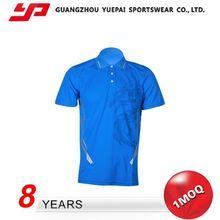 Hot Sales High Quality Breathable Collar Pocket Men T-Shirt