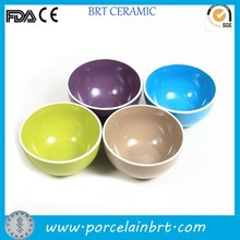 Customized mix of different colours ceramic Ceramic Rice Soup Bowl