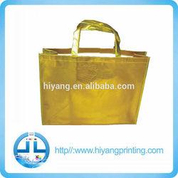 nice colorful Non Woven Shopping Bags/metallic slivery gold colour non woven bags