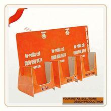 cardboard tri-fold brochure display stand