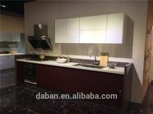 best black bespoke kitchen cabinets/High gloss kitchen cupboard