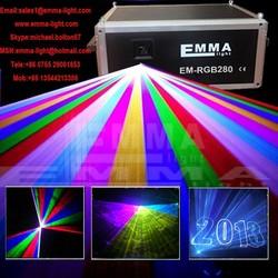 Newest !!! Professional Stage Discotheque/Disco/DJ Night Club 6W RGB Animation High Power Laser