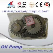 Dongfeng truck engine parts 4BT oil pump 4939585 for 4BT diesel engine
