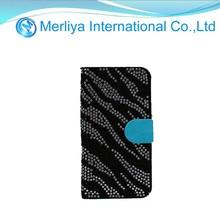 Zebra Diamond Leather Case for iPhone 5s