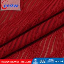 2015 New Arrival Crimson Polyester Spandex Jacquard Fabric Knitting