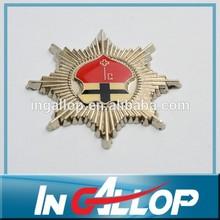 star shape gold souvenir metal badge