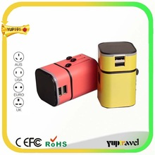 Customized Logo items USB travel adapter plug korea