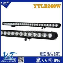 Y&T YTLB260W Super Bright 260W 42.4inch LED LIGHT BAR Single Row LED Light Bar for Car,4X4 4WD SUV,Offroads,Boat,Truck,Mining Ma