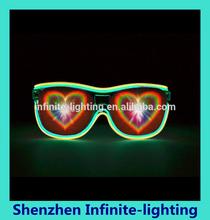 all new arrivals 2015 Promotion!! Love heart diffraction glasses plastic christmas 3d glasses