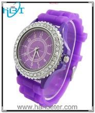 2015 High quality hot sale fashion colorful geneva diamond top 10 wrist watch brands