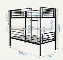 Black full over queen size heavy duty futon double metal bulk bed