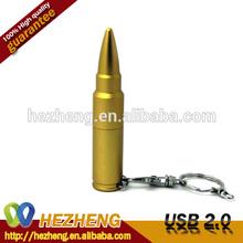 Hot Sales Golden Bullet usb pen drive metal 8GB