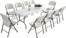 96'' Granite White Folding Table for Events, Banquet, Wedding, Parties, Recreation HL-C240