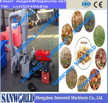 2015 Flat die pellet machine,crusher and pellet machinecombined machine