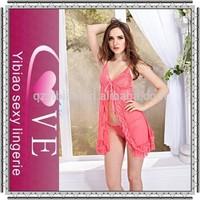 2015 new style open design babydoll lingerie mature women transparent sexy sleepwear