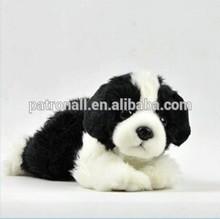 Soft Plush Lifelike Border Collie Dog/Stuffed Soft toy 23cm Border Collie Puppy