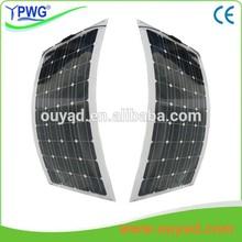 semi flexible solar panel 20W,30W,50W,60W for marine,roof,streetlight