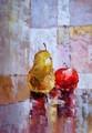 Handgefertigt ausgezeichnete moderne stillleben obst Ölbild auf leinwand ct-96