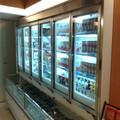 comercial de vidro porta balcão frigorífico