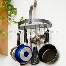 Wall Mount Metal Pot Hooks Rack Kitchen Organization