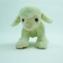 13cm sitting white lamb