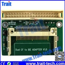 China New ArrivedDual CF to IDE ADAPTER V1.0,CF to IDE Adapter 40-Pin standard male IDE connector.