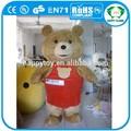 Oi ce ursinho lindo traje da mascote, filme de fantasia de urso, teddy bear mascote