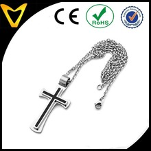 High Quality Cross Necklace, Cross Pendant, Fashion Mens Black & Silver Holy Crucifix Cross Stainless Steel Pendant Necklace