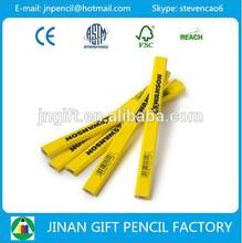 176-178*15*7mm standard size octagonal shape wooden carpenter pencil with logo