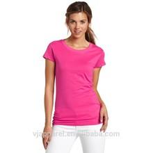 Round Neck Tshirts,Woman's Cotton Tshirts, Pure Color Blank Plain Tshirts