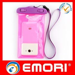 2015 New product IPX 8 cell phone beach bag waterproof bag for swimsuit