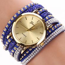 Women Genuine Vintage Leather Bracelet butterfly bracelet woman watch