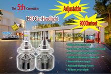 Adjustable Philip.s H4 H7 H11 Led 4500lm H11 Led Headlight 45w High Power H11