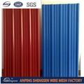 Color de metal corrugado de chapa de acero para el panel de techo