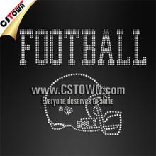 Football helmet sports iron ons diamante transfers wholesale