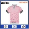 De fábrica- hecho oem de enfriar la luz de color rosa camiseta polo del carbón de leña con cuello de la costilla