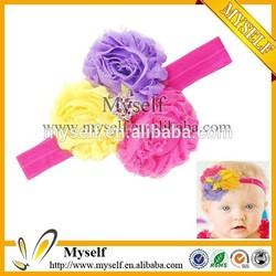 2015 Baby Children Shabby Flower Infant Toddler Girl Headband With Elastic