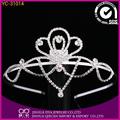 Nuevo diseño de cristal de diamante de imitación de la corona de la corona de la boda la novia corona tiaras/diademas