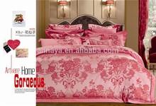 Luxury Jacquard Flower Design Bed Sheet Bedding Set with Comforter
