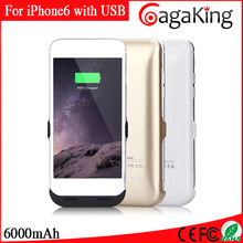 wholesale cell phone chargers 6000mah travel charger best external battery charger for iphone 6 power bank with usb port