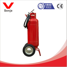 The fire fighting equipment refillable 35kg wheeled dry chemical fire extinguisher